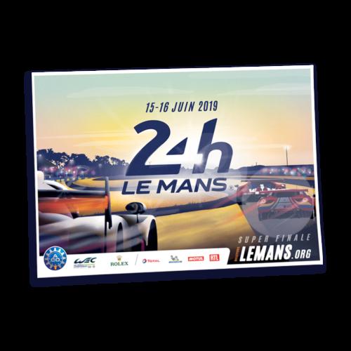 Affiche 24h du Mans 2019